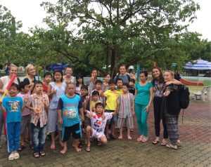 Waterpark with children of City Orphanage